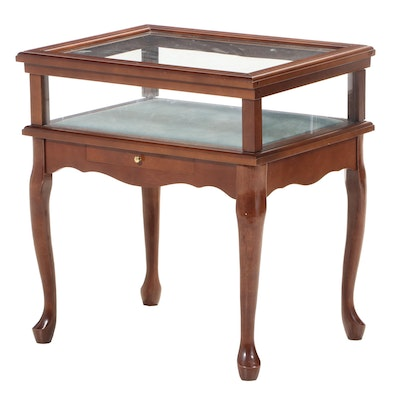 Queen Anne Style Maple Display Side Table
