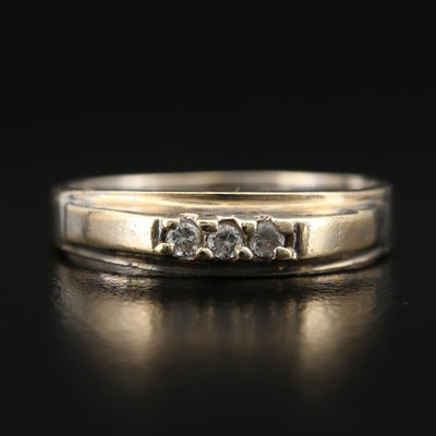 10K Cubic Zirconia Band