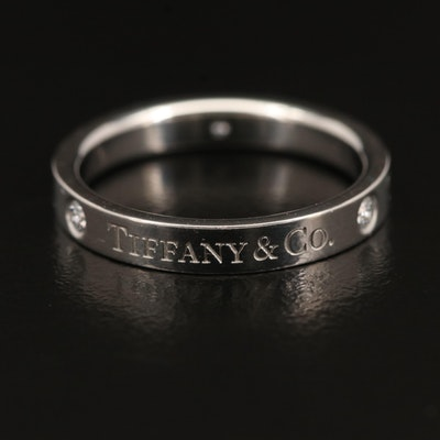 Tiffany & Co. Platinum Diamond Band