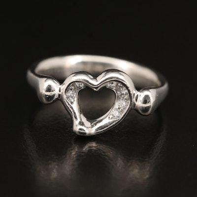 "Elsa Peretti for Tiffany & Co. Platinum ""Open Heart"" Ring"
