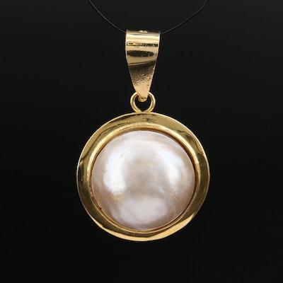 14K Mabé Pearl Pendant