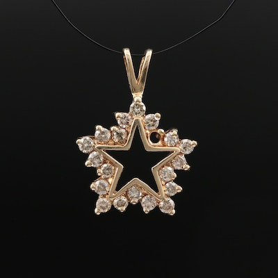 10K Diamond Star Pendant