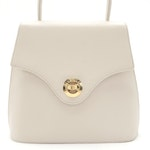 Givenchy Ivory Saffiano Leather Two-Way Top Handle Bag