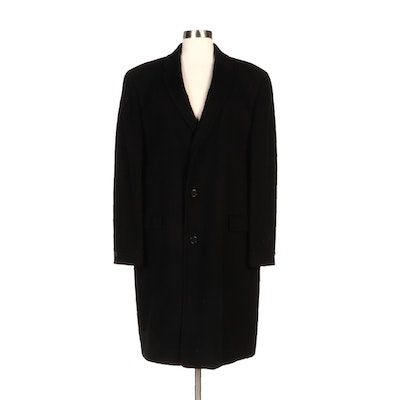 Golden Eagle Pakasha Black Cashmere Button-Front Coat