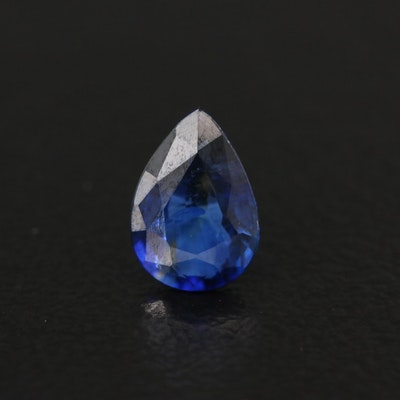 Loose 0.79 CT Pear Faceted Sapphire