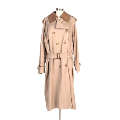 Men's Burberry Double-Breasted Trench Coat in Khaki with Removable Lining