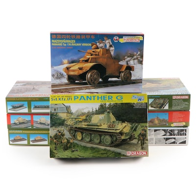 Dragon Unassembled WWII German Tank and Other Military Vehicles Model Kits