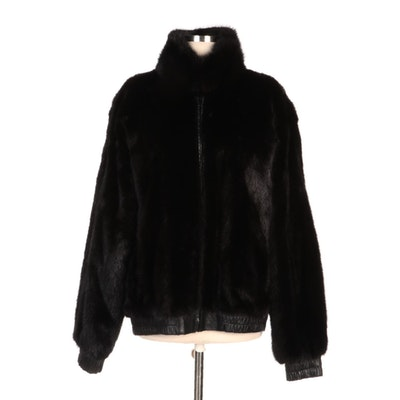 Reversible Black Mink Fur and Leather Jacket from Stanley Rich Furrier
