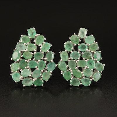 Sterling Beryl Cluster Earrings
