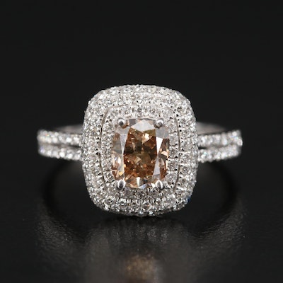 18K 1.94 CTW Diamond Double Halo Ring