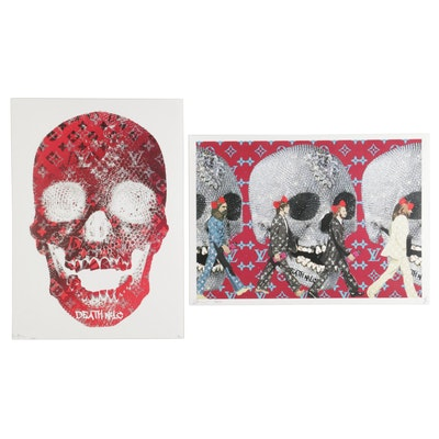 "Death NYC Pop Art Graphic Prints ""Skull"" and ""Crossing,"" 2020"