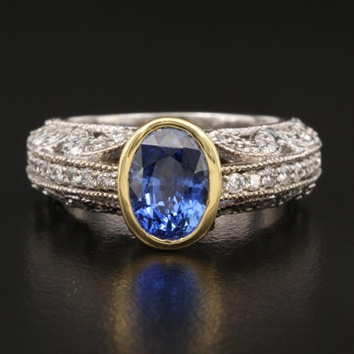 Vacheron Constantin 18K 2.26 CT Sapphire and 1.05 CTW Diamond Ring