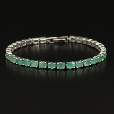 Sterling Beryl Line Bracelet