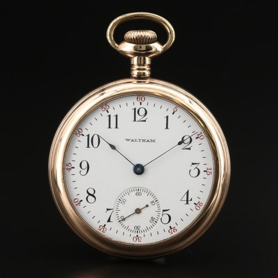 1906 Waltham Gold-Filled Open Face Pocket Watch
