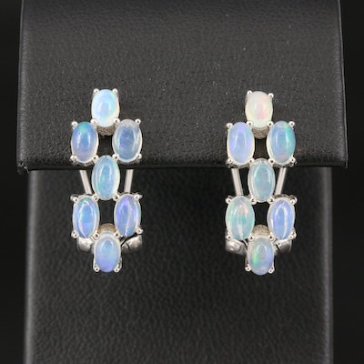 Sterling Opal Earrings