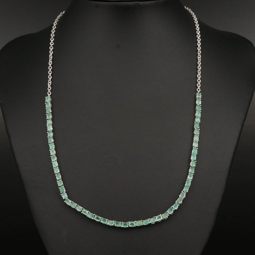 Sterling Emerald Necklace