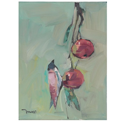 "Jose Trujillo Oil Painting ""Sugar Plums,"" 2021"