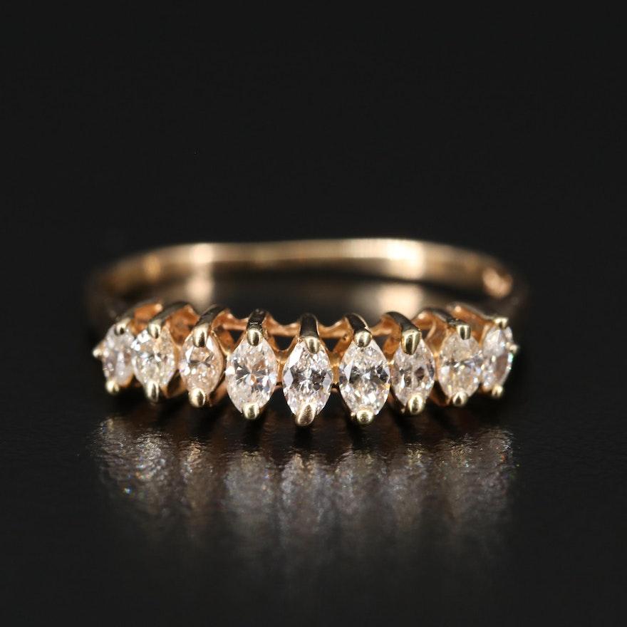 14K Diamond Tiered Ring
