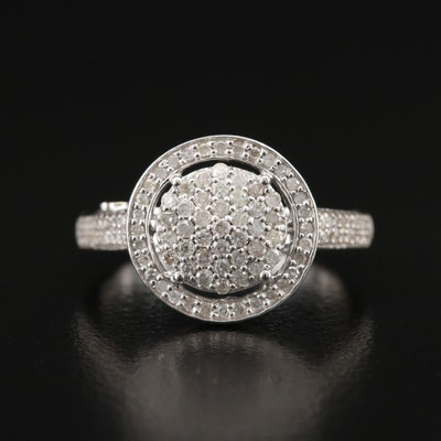 9K Diamond Cluster Halo Ring