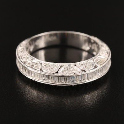 14K 1.16 CTW Diamond Band with Milgrain Detail