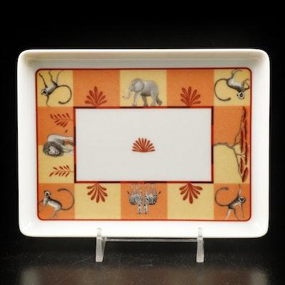"Hermès ""Africa"" Porcelain Vanity Tray with Original Box"