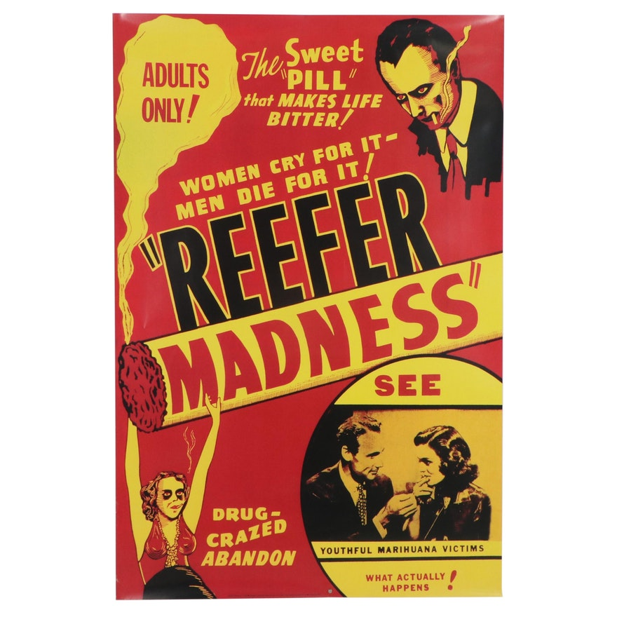 """Offset Lithograph after Movie Poster """"Reefer Madness,"""" 21st Century"""