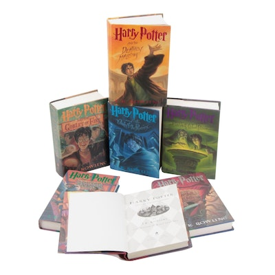 "Complete First American Edition ""Harry Potter"" Series by J. K. Rowling"