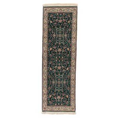 2'5 x 8' Hand-Knotted Indo-Persian Tabriz Carpet Runner, 2000s