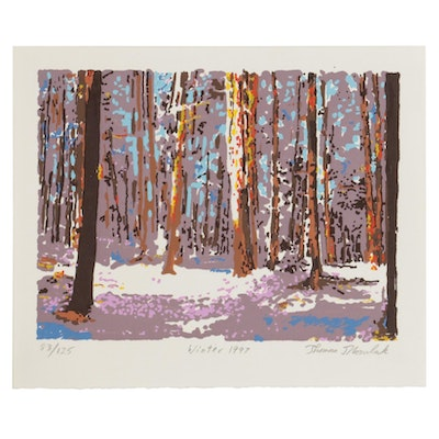 "Thomas Norulak Serigraph ""Winter 1997,"" 1997"
