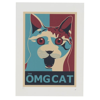 "Maicon MCN Giclée ""The OMG Cat,"" 21st Century"