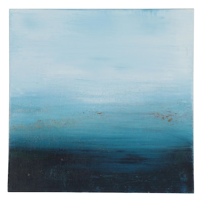 "Michele Helders Seascape Oil Painting ""Calm I,"" 2020"