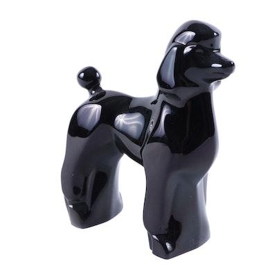 Baccarat Black Poodle Crystal Figurine