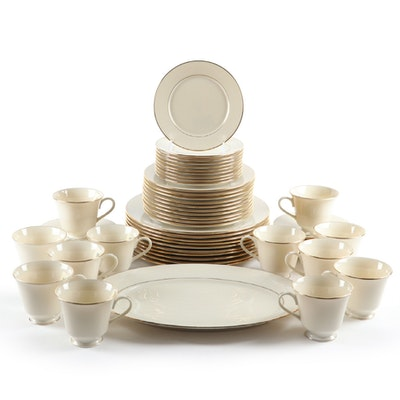 "Lenox ""Hayworth"" Gold Trimmed China Dinnerware, 1982–2010"