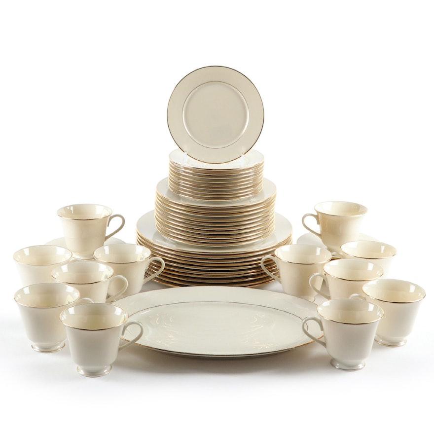 "Lenox ""Hayworth"" Gold Trimmed China Dinnerware, 1982–2010"