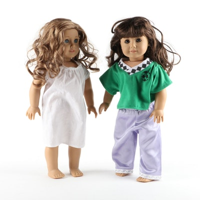 American Girl Dolls Nicki Fleming and Samantha Parkington