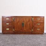 Henredon Scene One Campaign Style Dresser, Late 20th Century