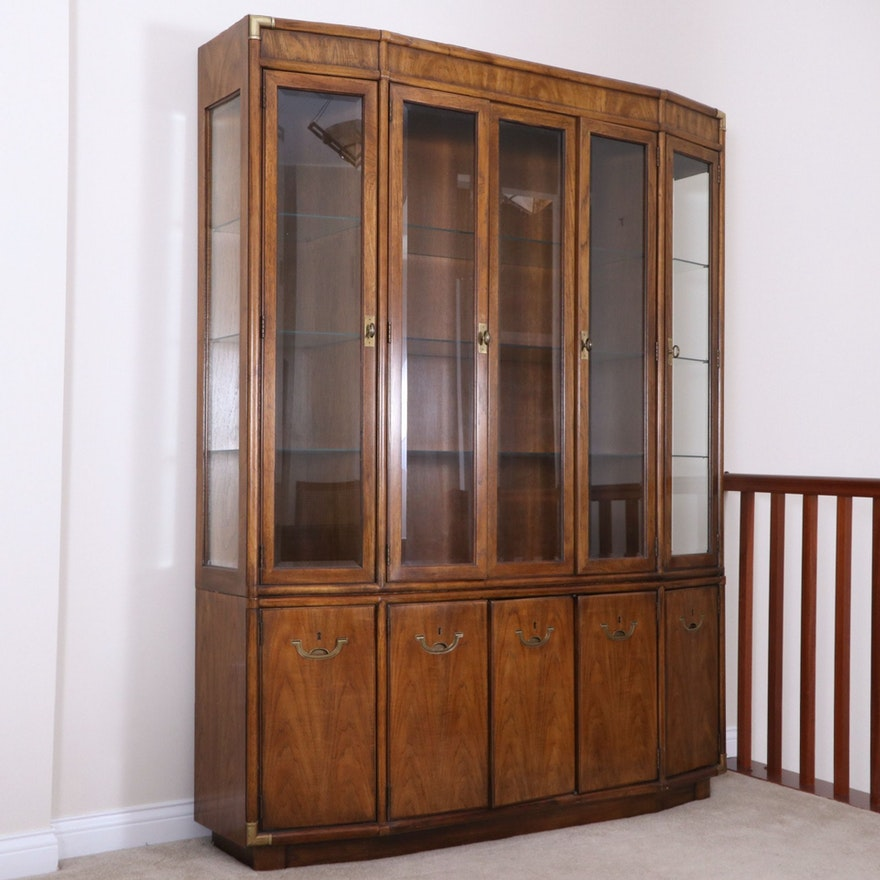 "Drexel-Heritage ""Accolade"" Campaign Style China Cabinet, Late 20th Century"