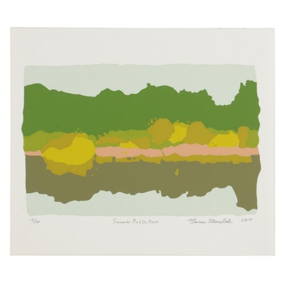 "Thomas Norulak Serigraph ""Summer Reflections,"" 2017"