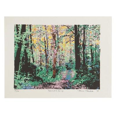 "Thomas Norulak Serigraph ""Appalachian Spring,"" 1998"