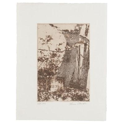 "Thomas Norulak Aquatint Etching ""WPA - 1936,"" 2007"