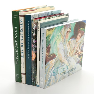 """Childe Hassam, American Impressionist"" with Art Books on Homer and Sargent"