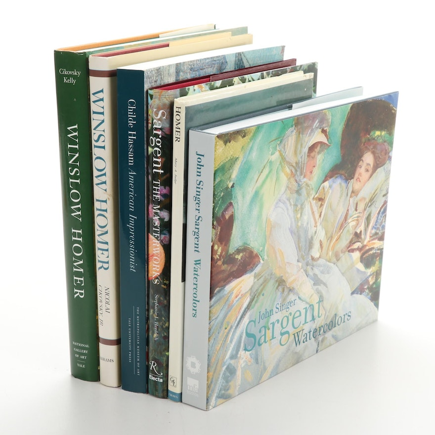 """""""Childe Hassam, American Impressionist"""" with Art Books on Homer and Sargent"""