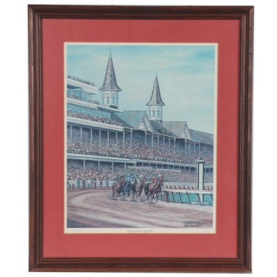 "C.G. Morehead Offset Lithograph ""Churchill Downs,"" 1971"