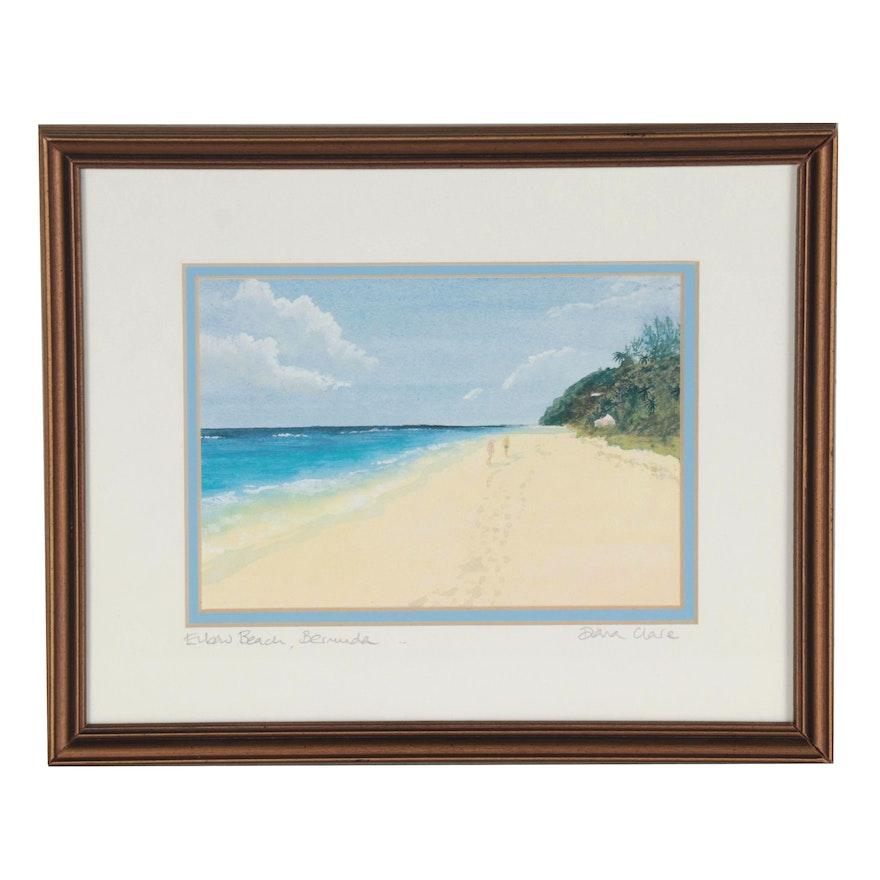 "Diana Higginbotham Offset Lithograph ""Elbow Beach, Bermuda,"" 21st Century"