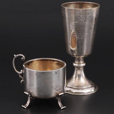 Sterling Silver Trophy Cup with Brandimarte Italian 800 Silver Bottle Holder