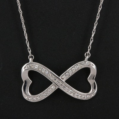 14K Diamond Infinity Heart Necklace