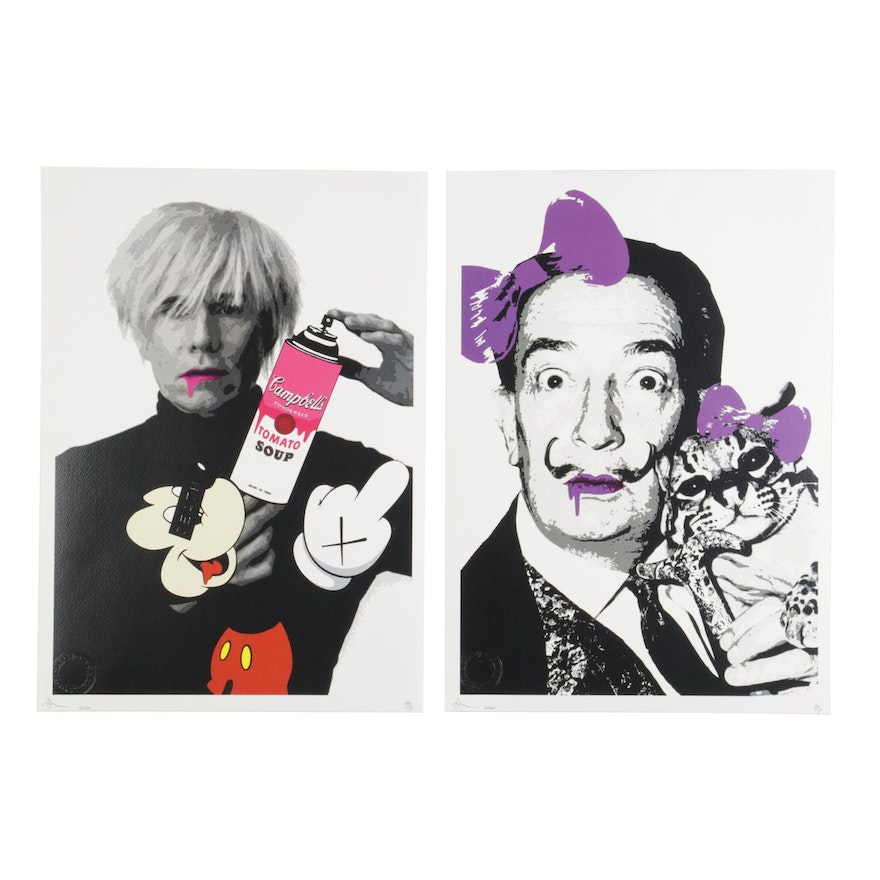 Death NYC Pop Art Graphic Prints of Celebrity Artists, 2020