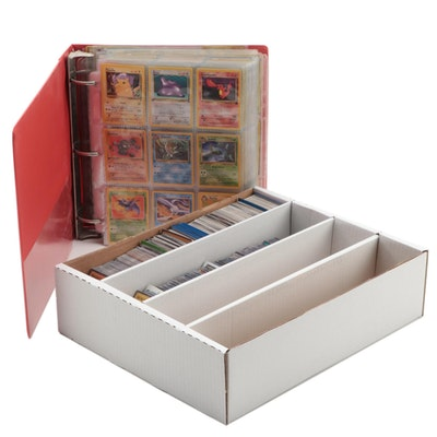 Pokémon Cards Including Japanese, Holos, and TV Animation with Yu-Gi-Oh! Cards
