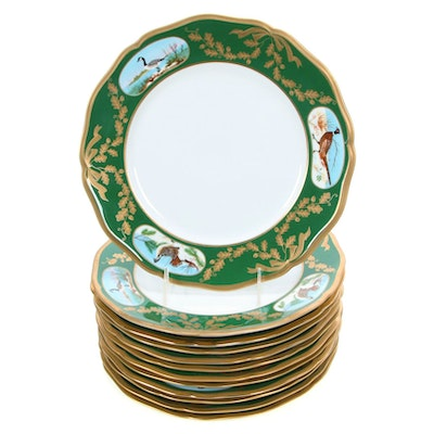 "Lynn Chase Porcelain ""Winter Game Birds"" Dinnerware, Late 20th Century"