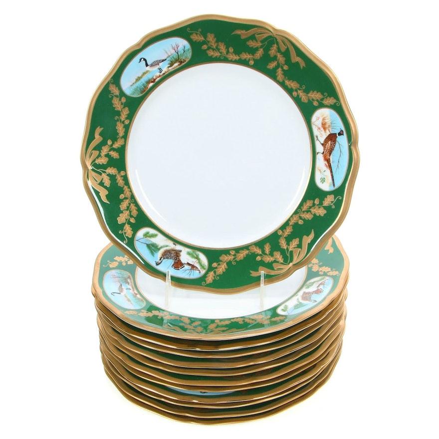 "Lynn Chase Porcelain ""Winter Game Birds"" Dinnerware, Late 20th Century"